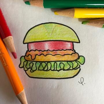 地球にやさしいハンバーガー