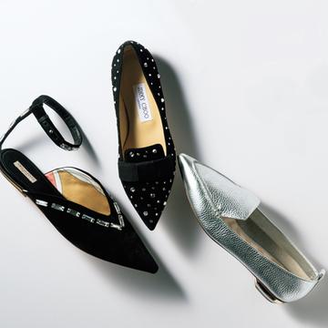 秋は「女顔フラット靴」でカジュアルスタイルを華やかに、優雅に【格上げフラット靴】