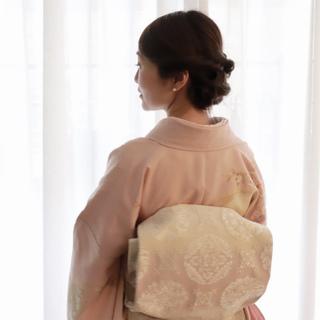 子どもの節目の行事は和装で、春らしく大人ピンクのお着物を