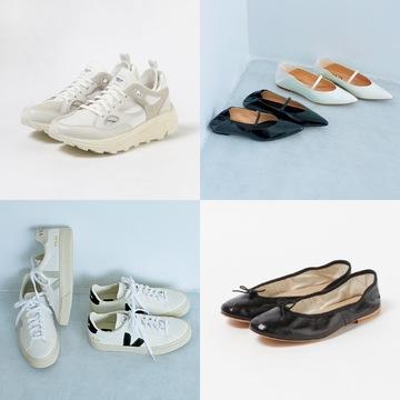 大人に人気のデザインが勢ぞろい! 「最旬フラット靴&スニーカー」