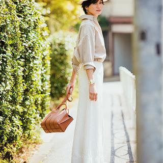 ■リネンのAラインスカート