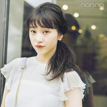 ノンノモデル山田愛奈が美しすぎる! ロングの#彼女感なサイドまとめ髪