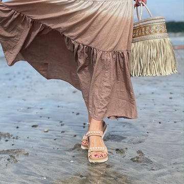 体に優しい「フラットサンダル」で、海散歩♪