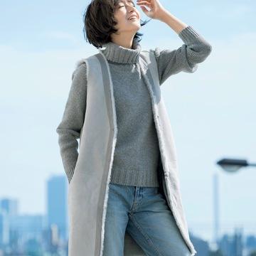 富岡佳子×KARL DONOGHUE カシミヤタッチラムファージレ完成!