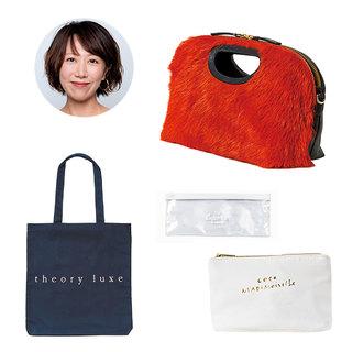 働くアラフォー・美女組ritsukoさんの【夜、予定がある日の「バッグとポーチの中身」】
