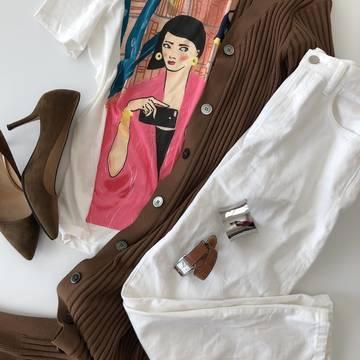 娘が選んでくれたZARAのTシャツは・・・