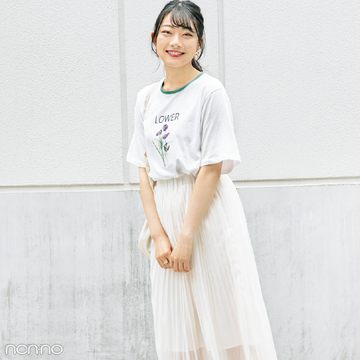 Tシャツなのに女っぽいの秘密♡ リアルコーデをチェック!【カワイイ選抜】