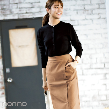ベージュのタイトスカート、3900円で平日も休日も美人見えが叶う♡【オンオフ使える名品リスト】