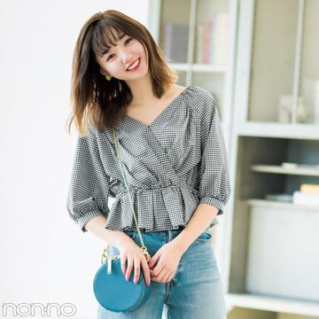江野沢愛美が5通りに着回す! 色落ちワイドデニムの最新コーデ♡