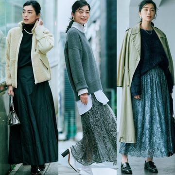 【揺れスカートコーデ6選】女らしく、かっこいい。これまでとは違うスカートスタイルを楽しんで