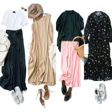 50代の着るだけでおしゃれ見え!「とろみパンツ」と「揺れワンピース」でつくる夏のお手本コーデ集