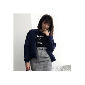 岡本杏理はチェックミニでブリティッシュMIX♪【毎日コーデ】