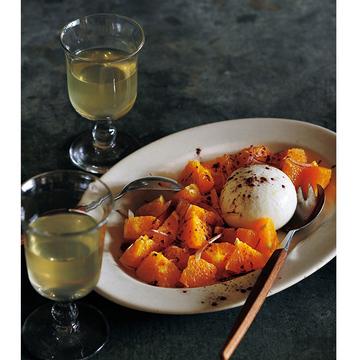 <冬こそチーズでおもてなし>ブッラータとオレンジのサラダのレシピ