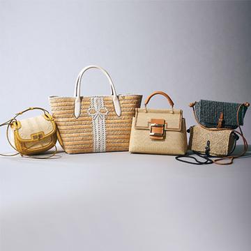 """軽いのにエレガント! """"洗練された自然素材バッグ""""【フリーダム&リッチな春のトレンドバッグ】"""