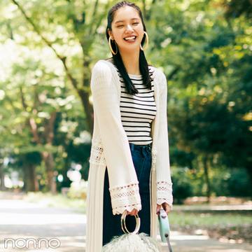 【日曜日】新川優愛のトレンドダイアリー1週間ラスト★クロシェのガウンで愛犬のお散歩!