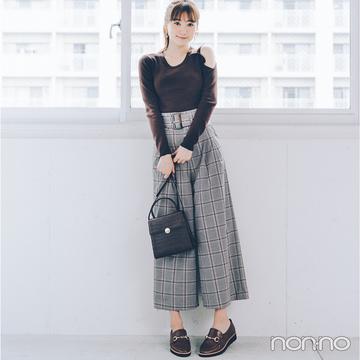 2019秋トレンド速報★ ブラウンコーデは同系色のローファーで決まる!