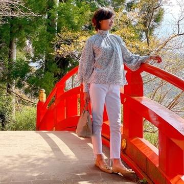 「白デニム」で箱根へお出かけ
