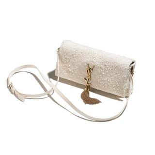 SAINT LAURENTのホワイトツイードバッグで着こなしも気分もアップデート【ファッション名品】