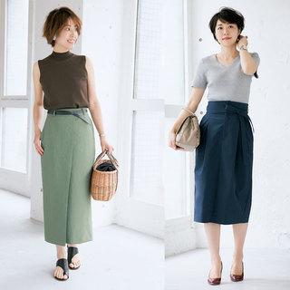 腰はり&太ももボリュームが気になる人のスカート選び【体型お悩み別スカート】