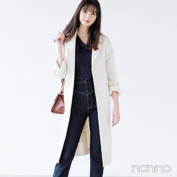 冬の定番スキニー+ロングコート、男子は好きですか?