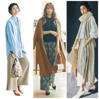 スタイルアップもトレンド感も叶えるパンツはどれ?2021年春のパンツコーデまとめ|40代ファッション