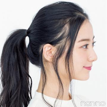 ミディアム&ロングの簡単一つ結びアレンジ★後れ毛を出す位置が違うって知ってた?