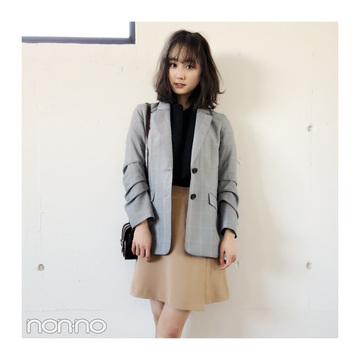 鈴木友菜はジャケットスタイルにスポサンで抜け感を♡ 【毎日コーデ】