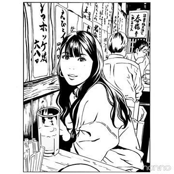 江口寿史さんが馬場ふみかをイラストに! 夢の居酒屋トーク♡ 【馬場ふみかのふみかける】