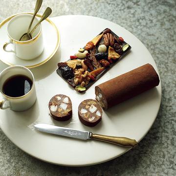 ナッツ&ドライフルーツ入りの「上質チョコレート」で優雅なティータイムを!【15時のショコラ】