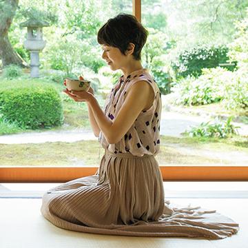 庭の眺めとさわやかなお薄に癒される「兼六園・時雨亭」【黒田知永子、夏ならではの金沢】