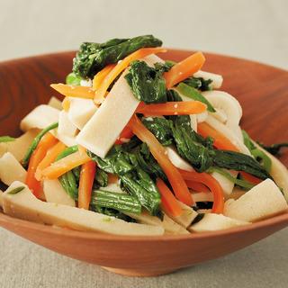 貧血対策&女性にうれしい成分も! 高野豆腐と緑黄色野菜の塩麹あえ