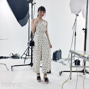 松川菜々花♡ レディアゼルの花柄オールインワンが可愛い!【モデルの私服スナップ】