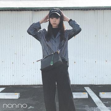 馬場ふみかの今日のコーデは古着のパジャマシャツ+プレイボーイキャップ♡【モデルの私服スナップ】