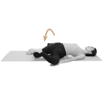 【骨盤を整えるストレッチ5】「膝倒しストレッチ」で骨盤全体のねじれを解消!