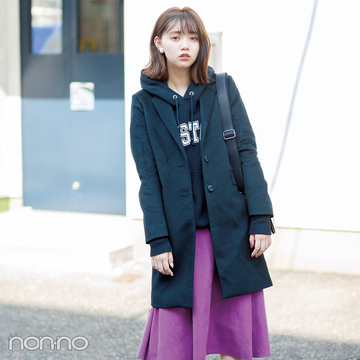 秋色スカートとコートのバランスって難しい? 正解コーデの法則はコレ!