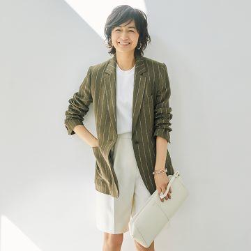 富岡佳子が着る「春ジャケット」