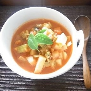 夏でも冷えがつらいアラフォーに朗報!トマトクラムスープレシピ