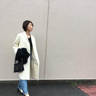 冬に着る「白」大好きです