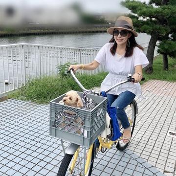 New自転車で愛犬とサイクリング