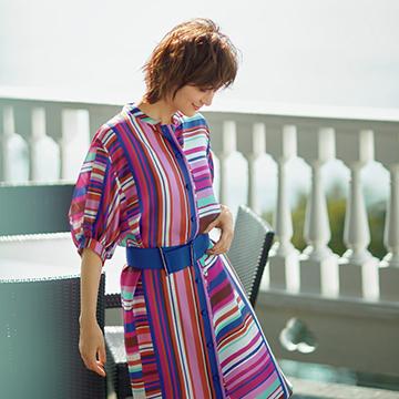 着映え色や柄、素材で魅せる「ランバン コレクション」でリゾートでも街でも輝く!