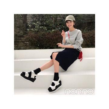 毎日コーデ★鈴木優華はスポサンで大人カジュアルに!