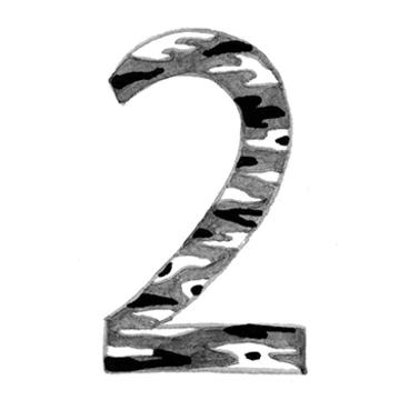 イヤーナンバー「2」