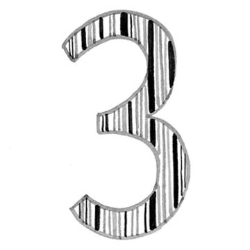 イヤーナンバー「3」