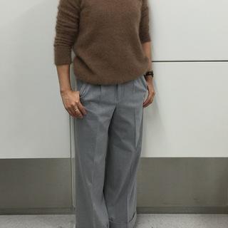 身長を気にせず、バランスよく履けちゃうセミワイドパンツ【SHOP Marisol】
