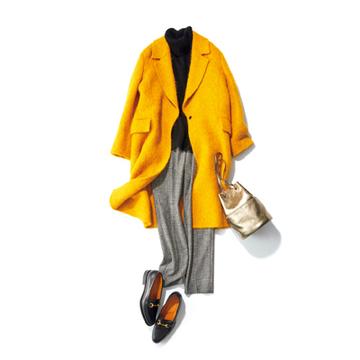 【Day07】シガレットパンツがあれば、オーバーサイズコートもすっきり!【冬の洗練パンツ30days】