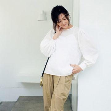 スタイリスト福田亜矢子さんプロデュース「N.O.R.Cのパフスリーブブラウス」