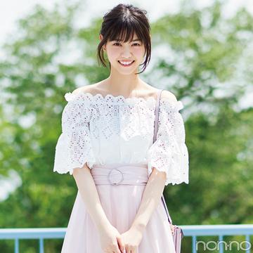 西野七瀬が着る♡ フェミピンクのスカパン、夏コーデ3選!