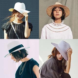 「帽子」でアラフォーの夏コーデをもっとおしゃれに!|40代 トレンド小物のまとめ