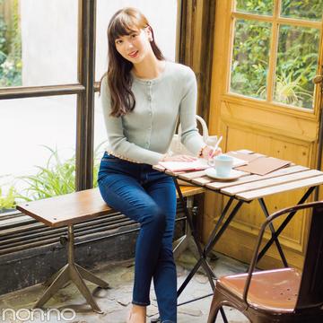 優愛&優子&あずさのシーン別★パステルニット×デニムの正解コーデ