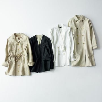 便利なはおり物から旬のジャケットまで「アウター&ジャケット」